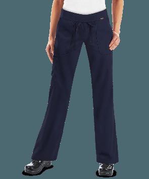 koi Comfort Scrubs Women's Morgan Knit Waist Cargo Scrub Pants
